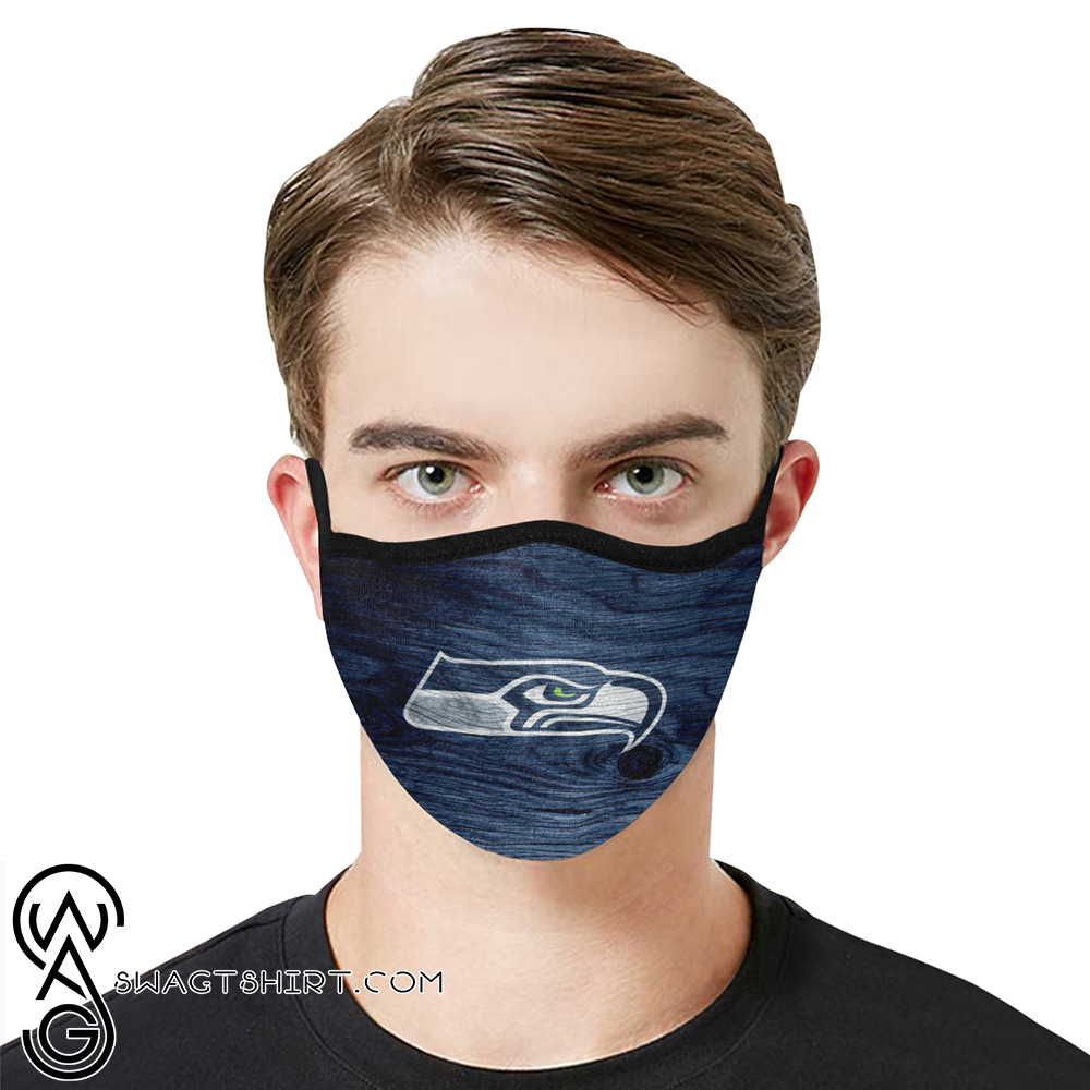 National football league seattle seahawks team cotton face mask