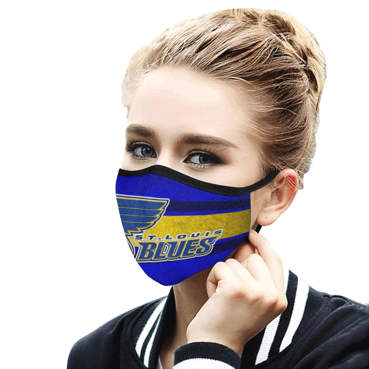 National hockey league st louis blues cotton face mask 3