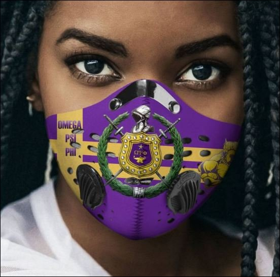 Omega psi phi filter activated carbon face mask 2