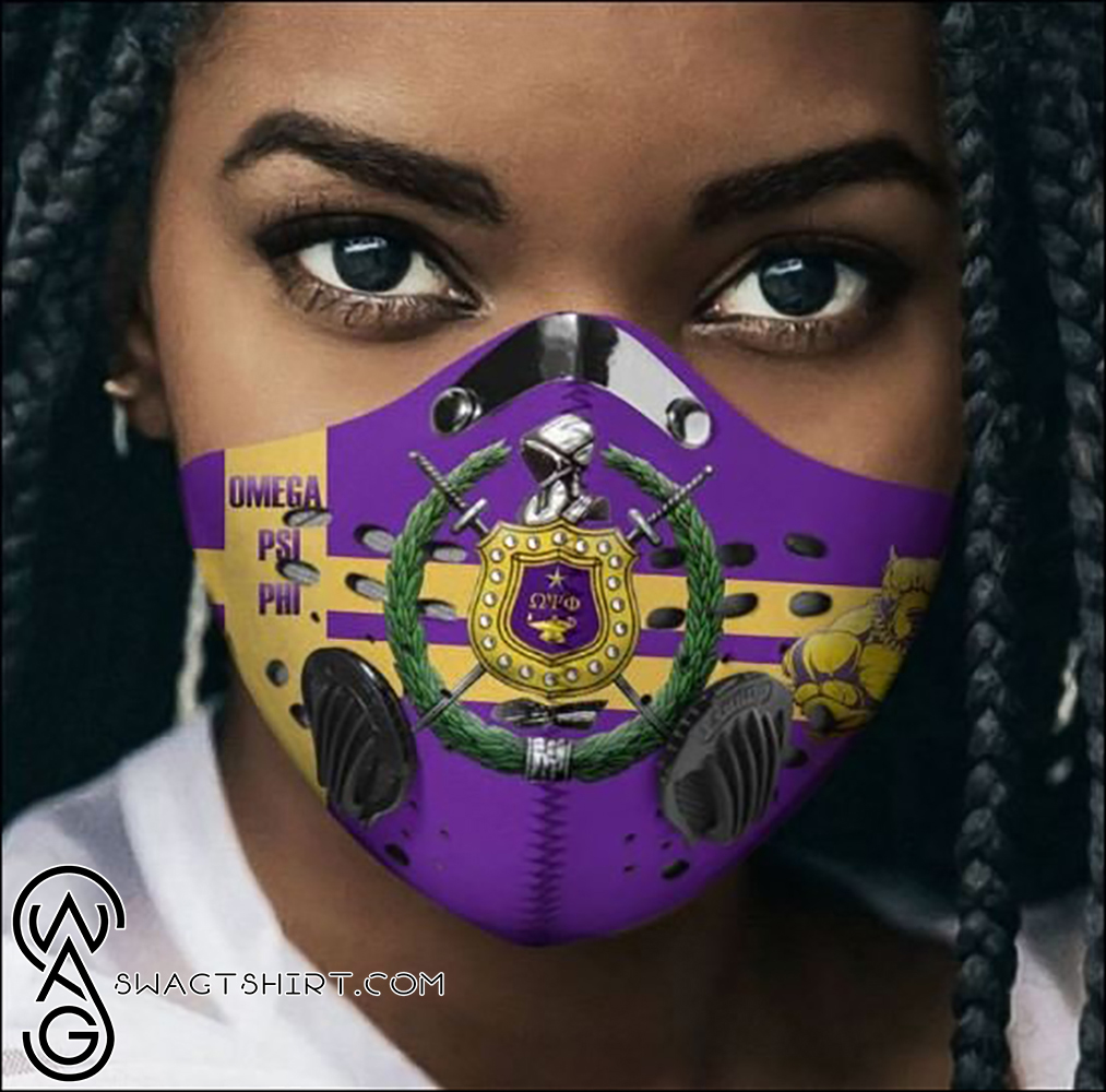 Omega psi phi filter activated carbon face mask
