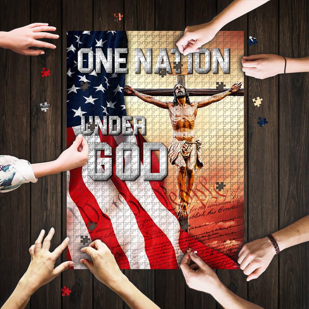 One nation under god jigsaw puzzle 1
