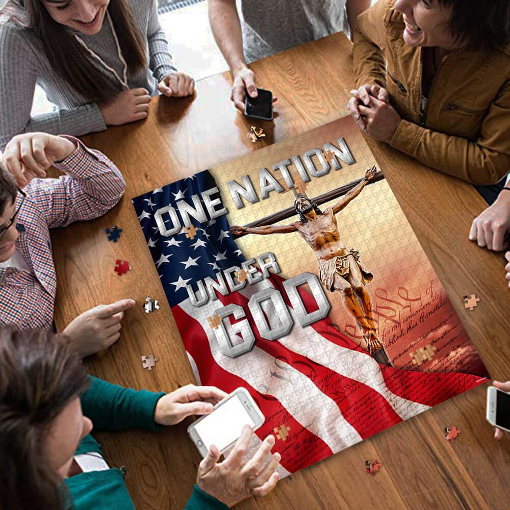 One nation under god jigsaw puzzle 3