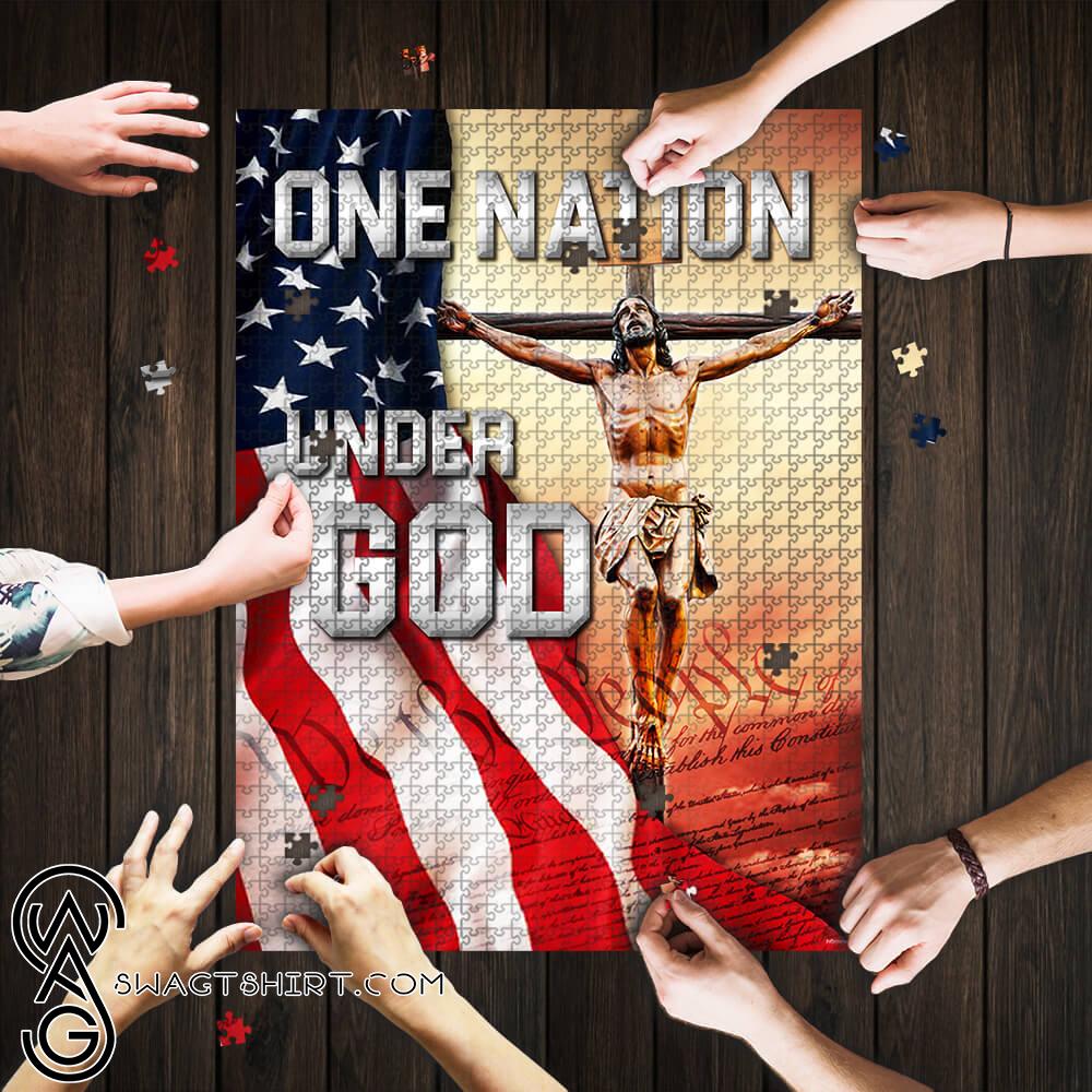 One nation under god jigsaw puzzle