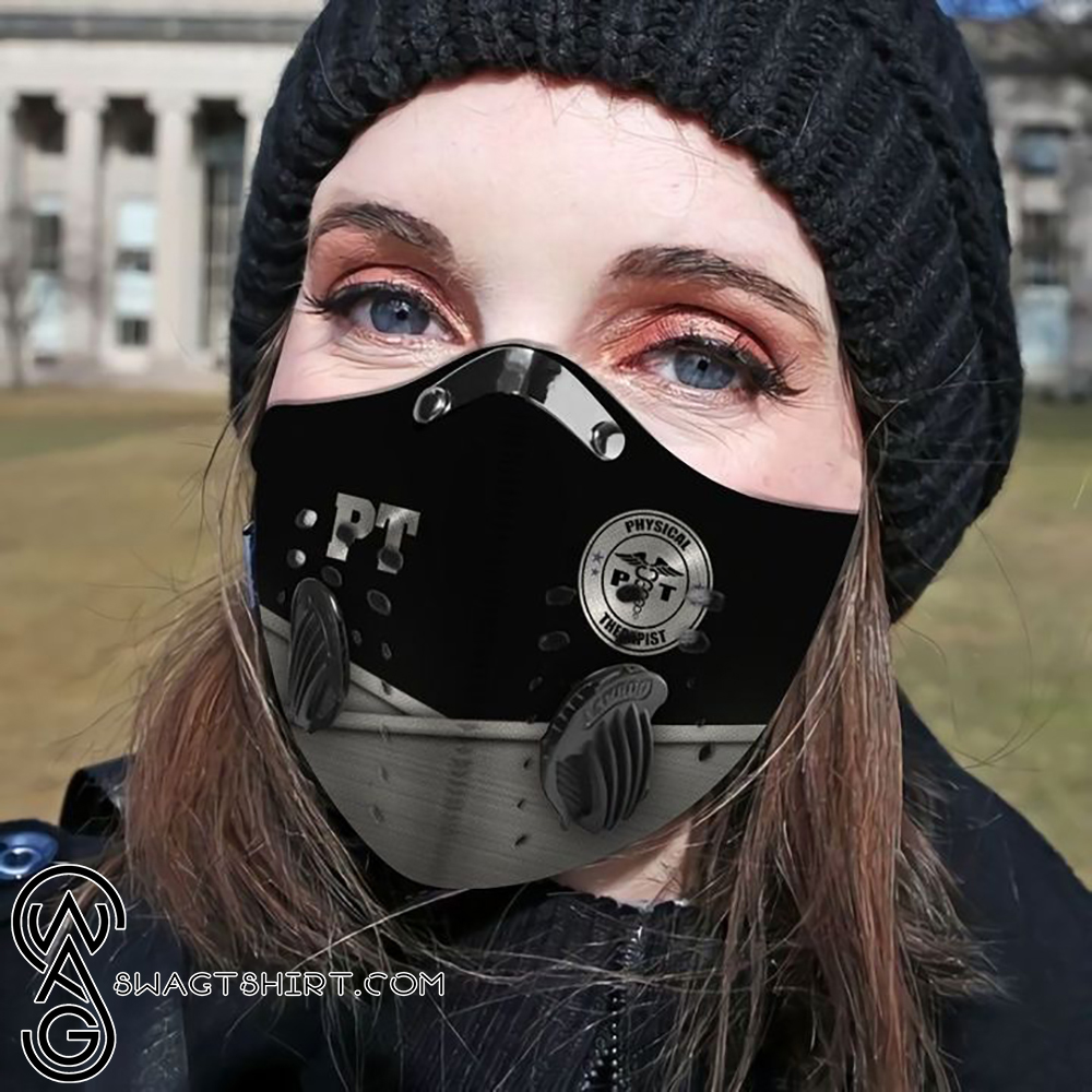 Physical therapy metal filter activated carbon face mask