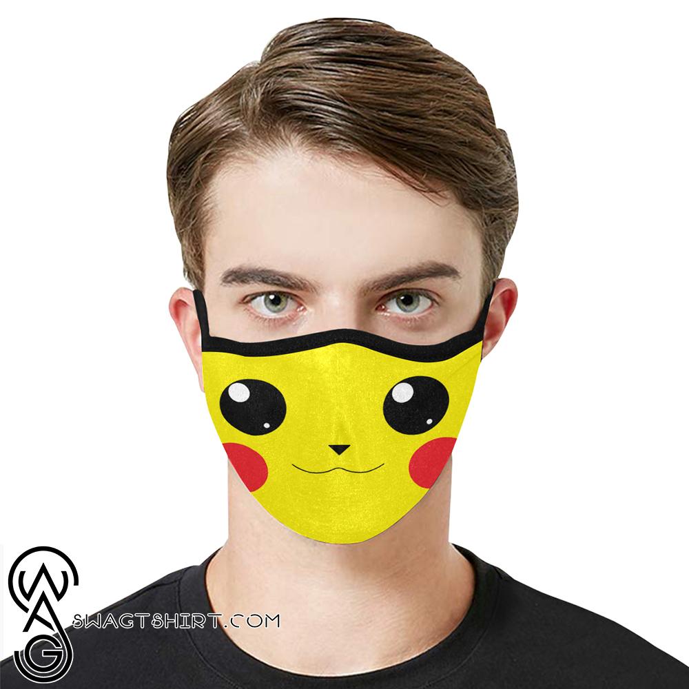 Pikachu face anti-dust cotton face mask