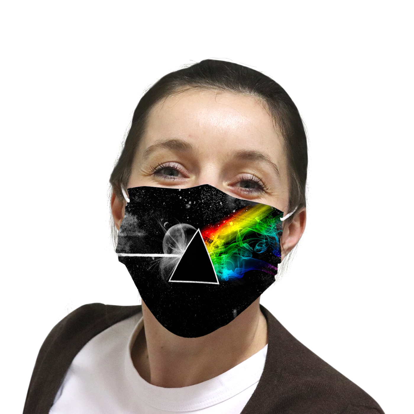 Pink floyd the dark side of the moon anti-dust cotton face mask 4