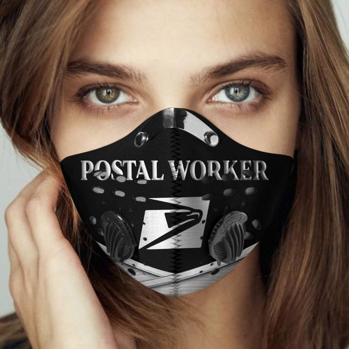 Postal worker proud filter activated carbon face mask 2