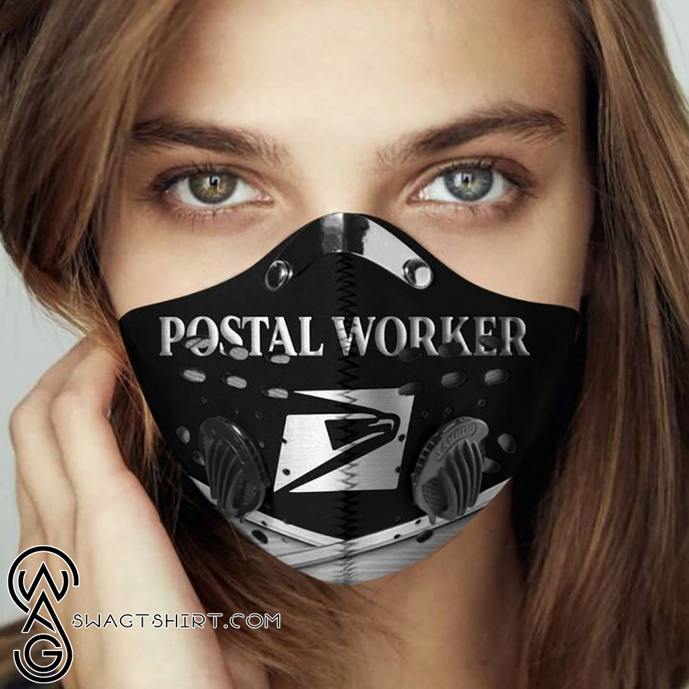 Postal worker proud filter activated carbon face mask