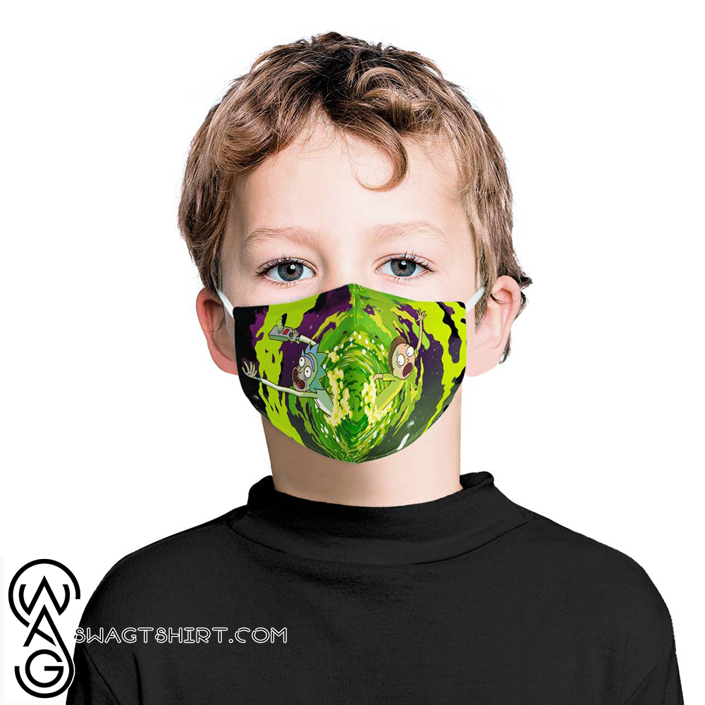 Rick and morty tv show anti-dust cotton face mask