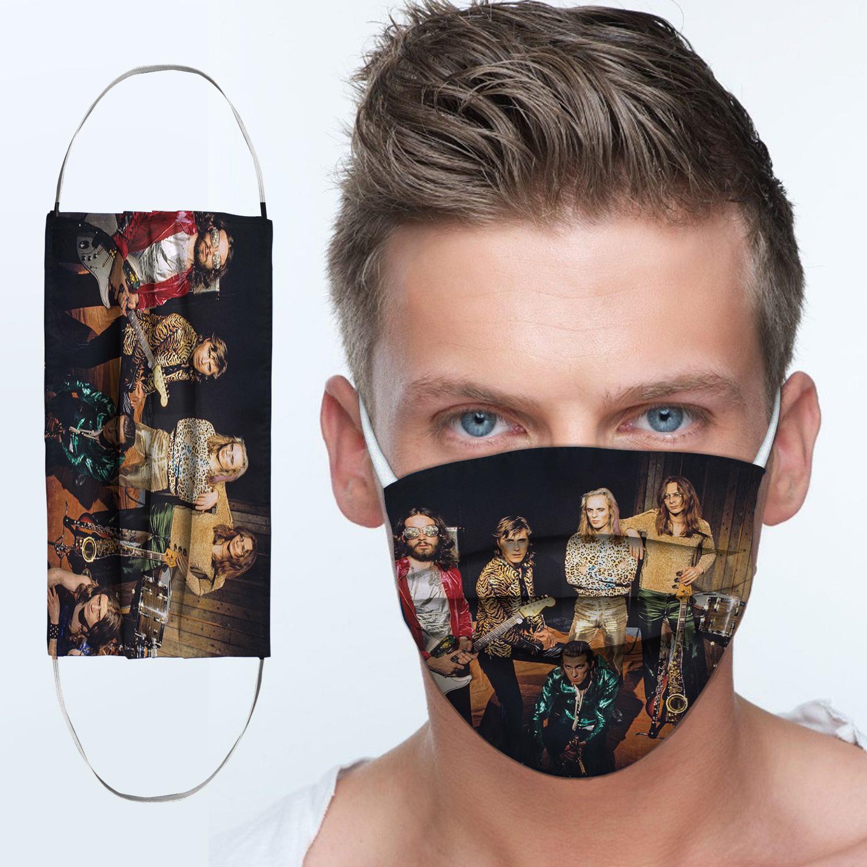 Roxy music rock band anti-dust cotton face mask 3