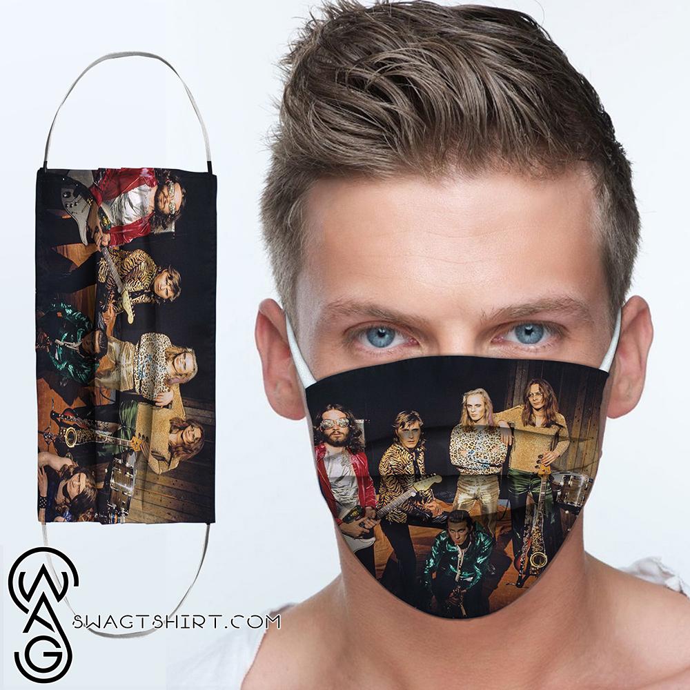 Roxy music rock band anti-dust cotton face mask