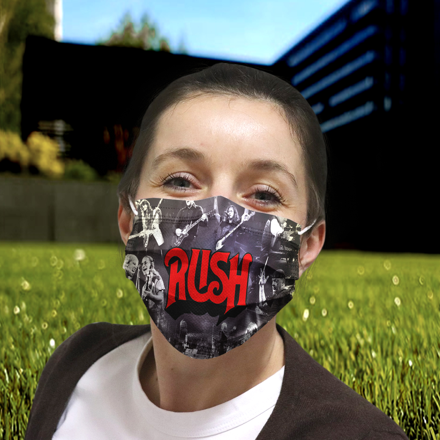 Rush rock band anti-dust cotton face mask 1