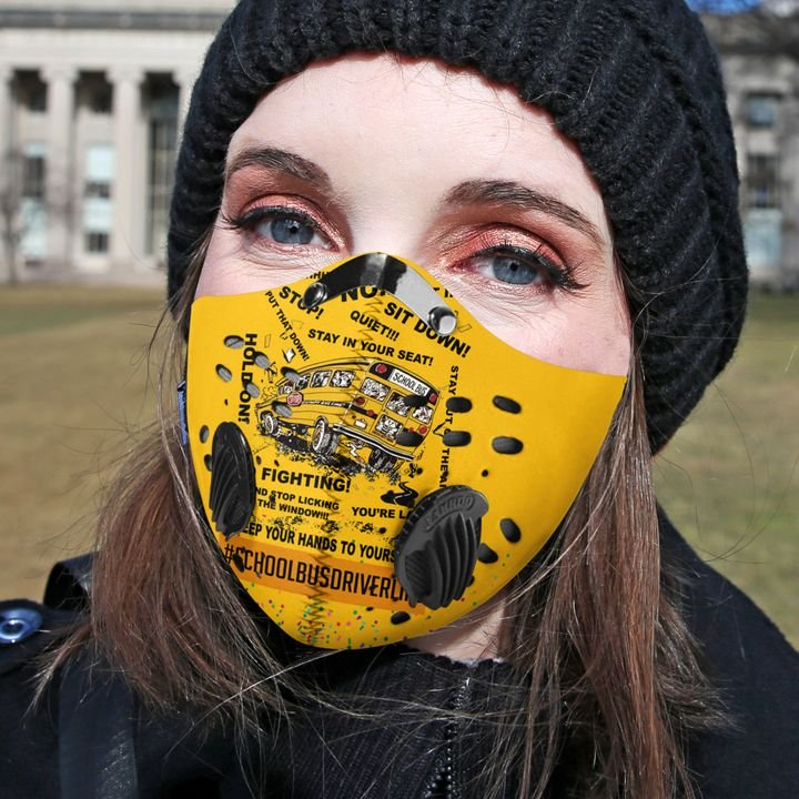 School bus driver filter activated carbon face mask 2
