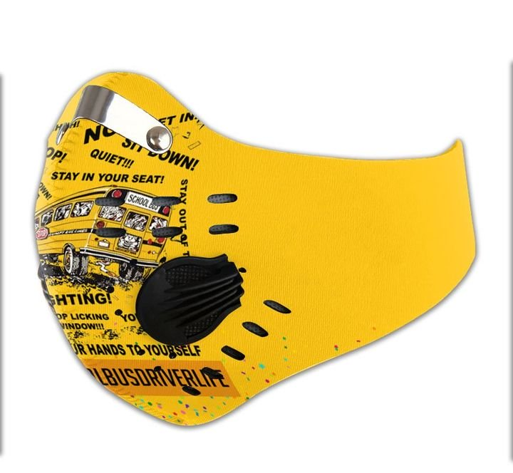 School bus driver filter activated carbon face mask 3