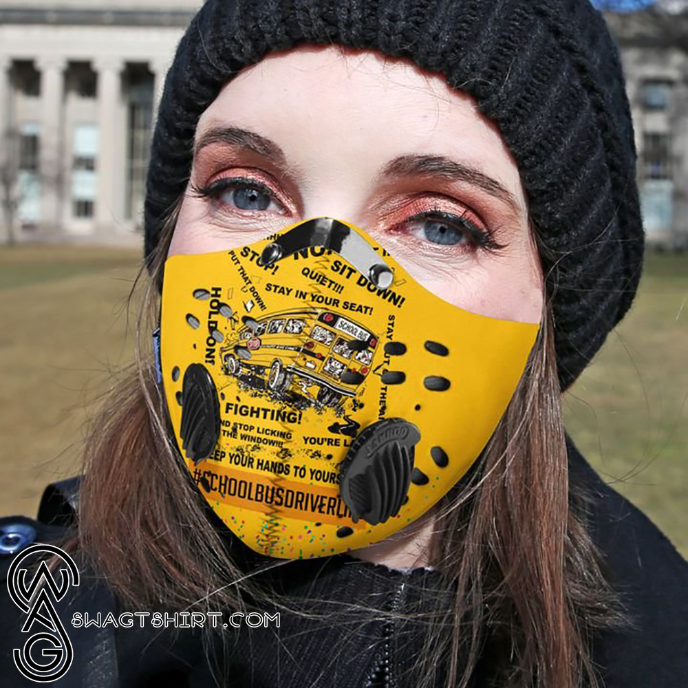 School bus driver filter activated carbon face mask