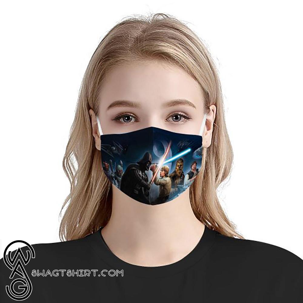 Star wars darth vader and luke skywalker cotton face mask