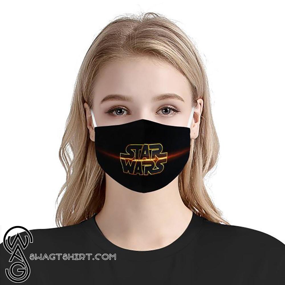 Star wars logo anti-dust cotton face mask