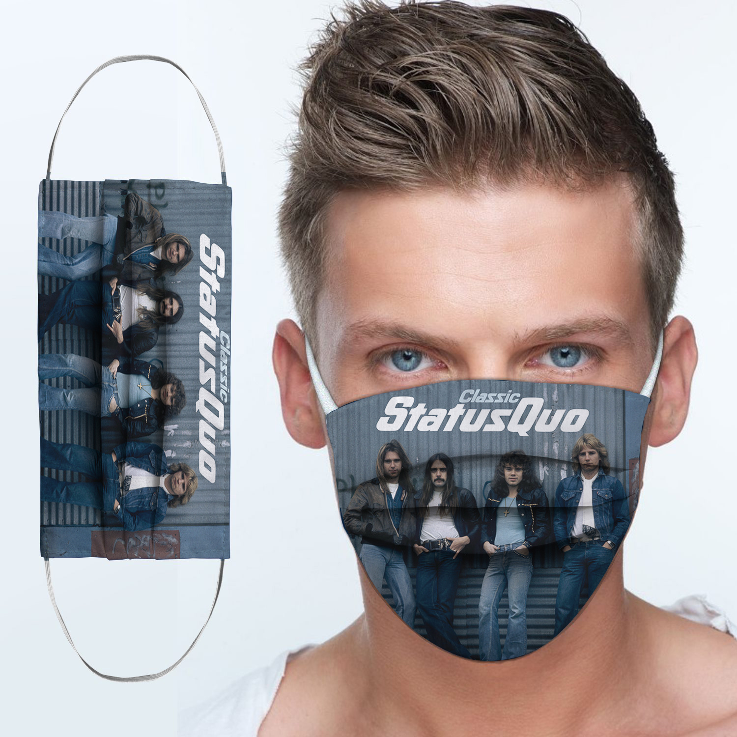 Status quo rock band anti-dust cotton face mask 1