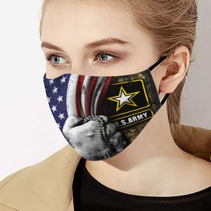 United states army inside american flag anti-dust face mask 2