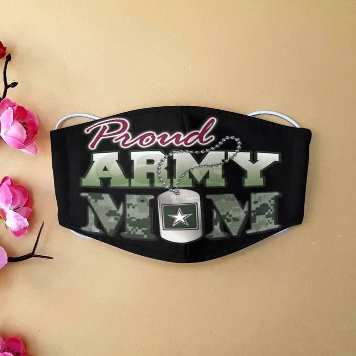 United states army proud army mom camo anti-dust face mask 3