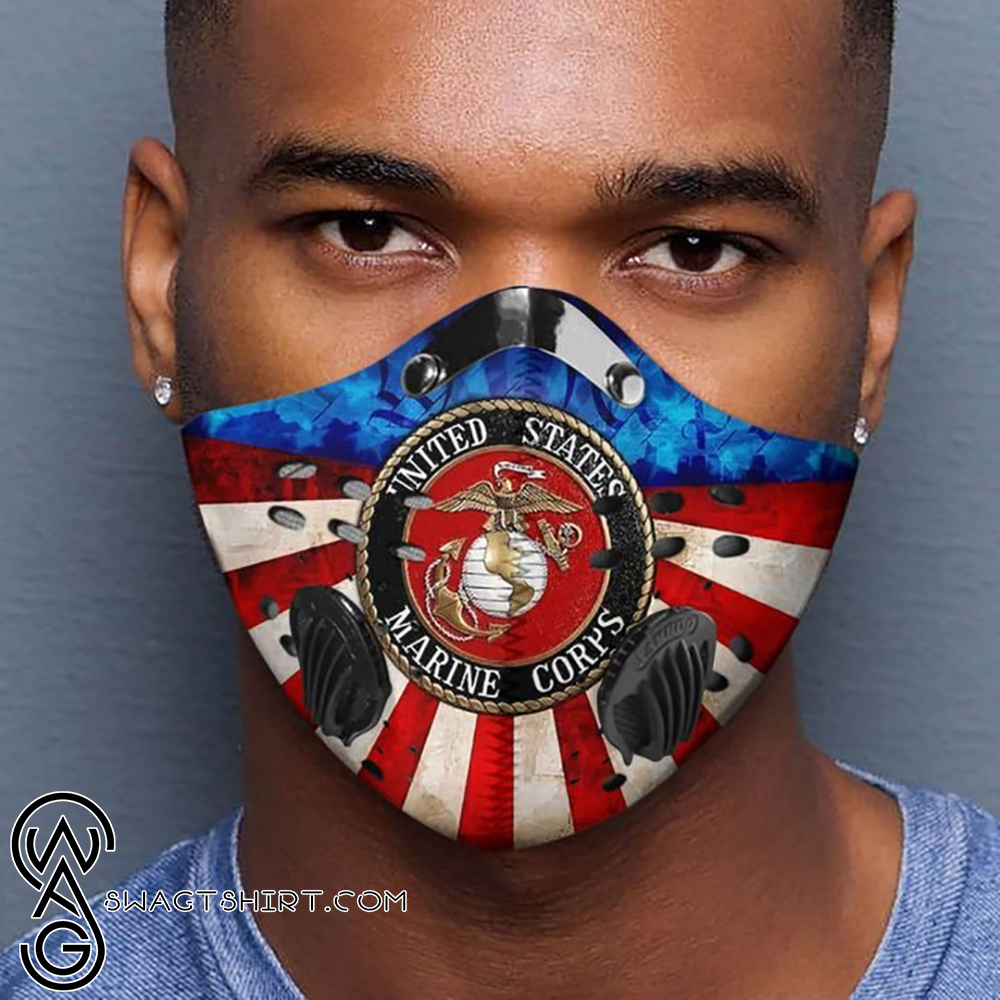 United states marine corps logo filter activated carbon face mask