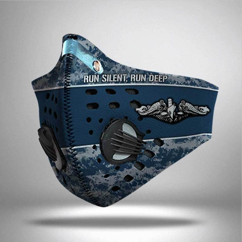 United states navy submarine force run silent run deep filter activated carbon face mask 2