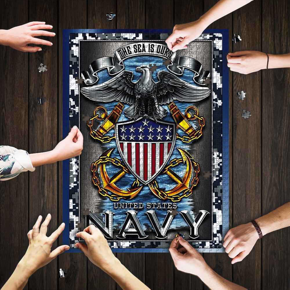 United states navy the sea is ours jigsaw puzzle 1