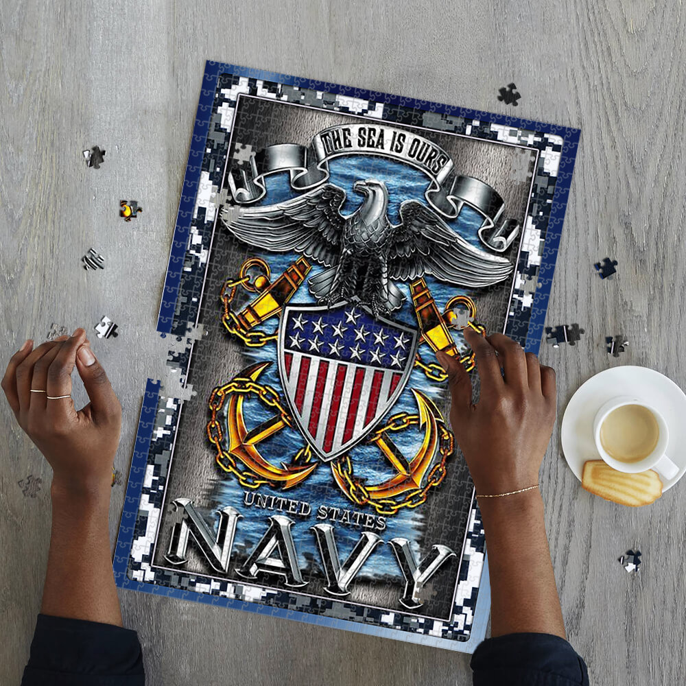 United states navy the sea is ours jigsaw puzzle 2