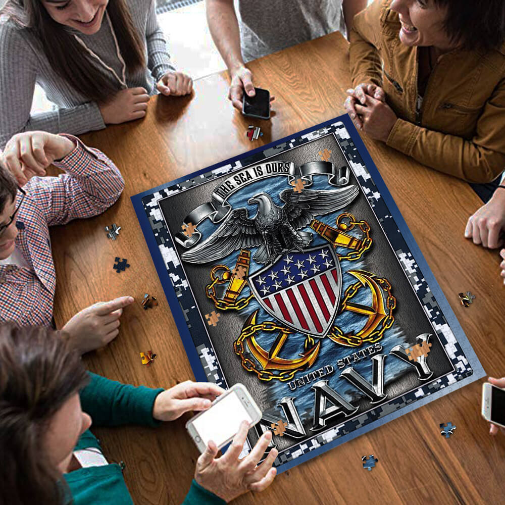 United states navy the sea is ours jigsaw puzzle 3