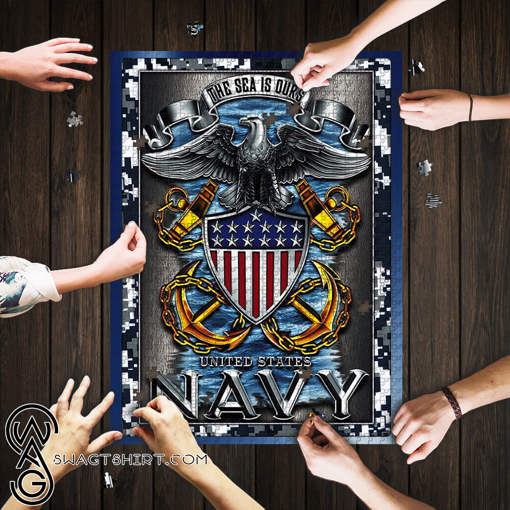 United states navy the sea is ours jigsaw puzzle