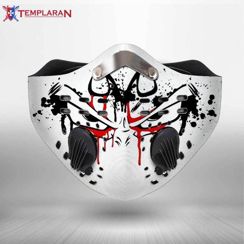 Vegeta eyes dragon ball z filter activated carbon face mask 3
