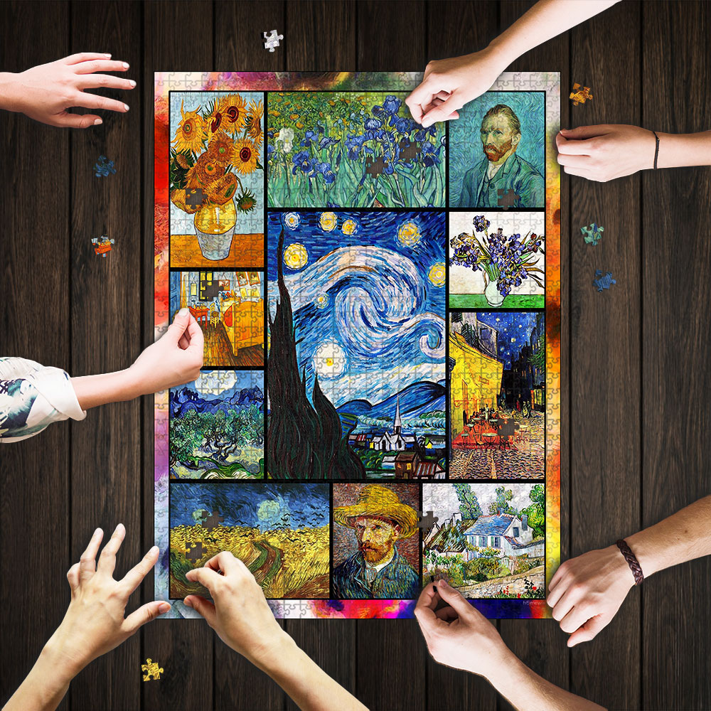 Vincent van gogh paintings starry night jigsaw puzzle 1