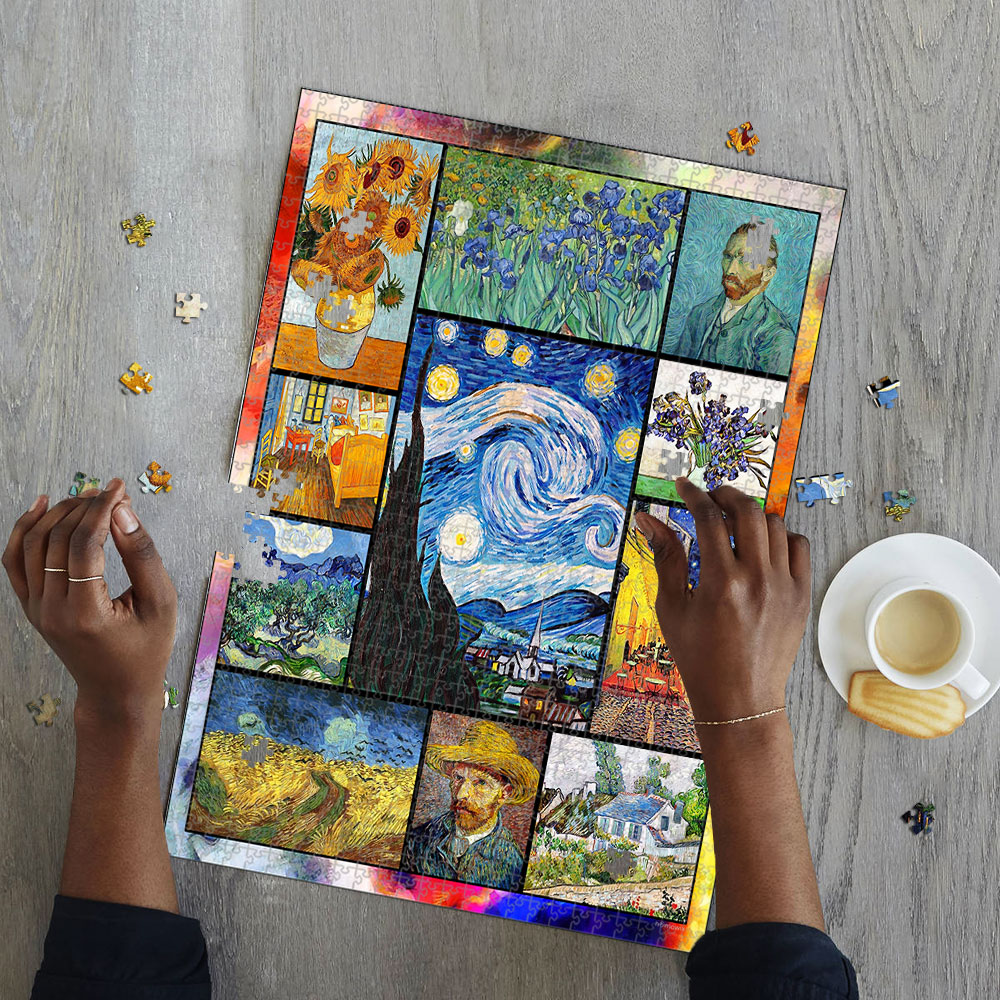 Vincent van gogh paintings starry night jigsaw puzzle 4