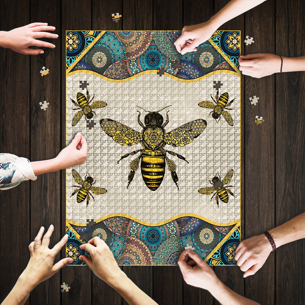 Vintage bee jigsaw puzzle 1