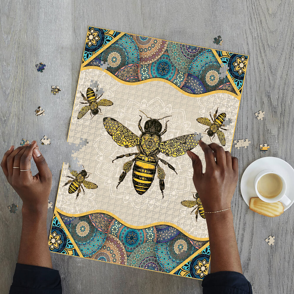 Vintage bee jigsaw puzzle 2