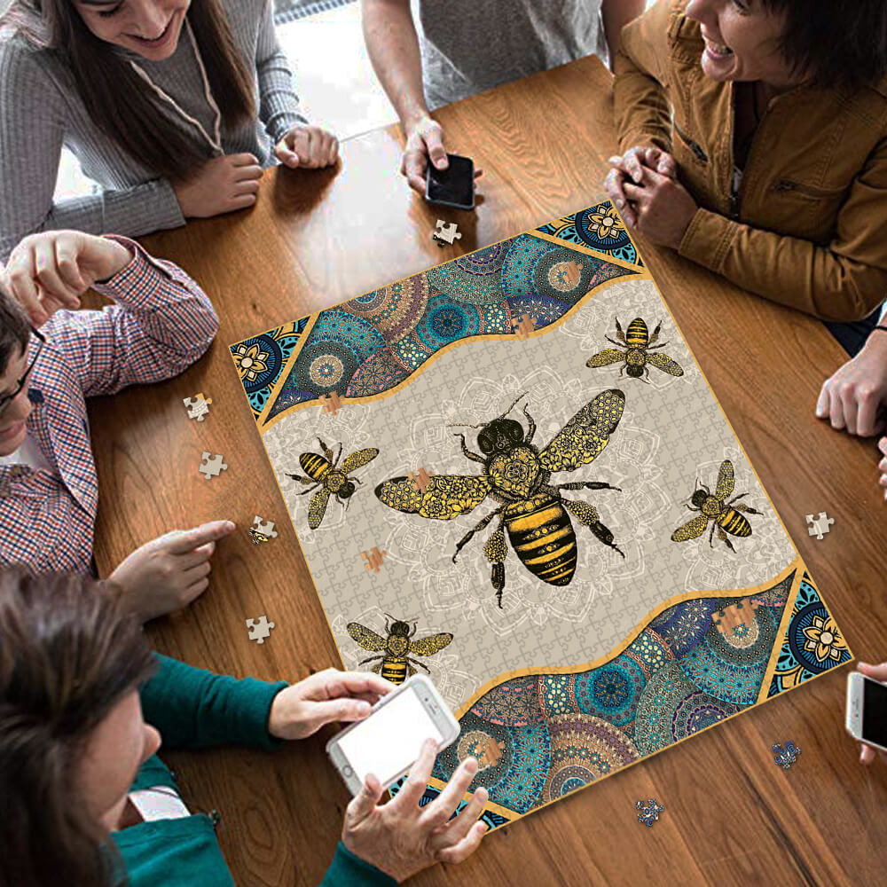 Vintage bee jigsaw puzzle 3