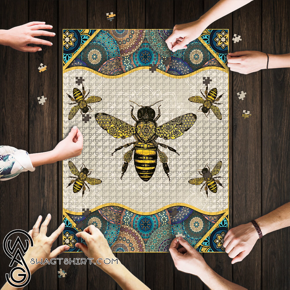 Vintage bee jigsaw puzzle