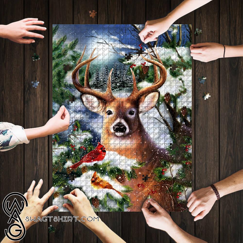 Winter deer jigsaw puzzle