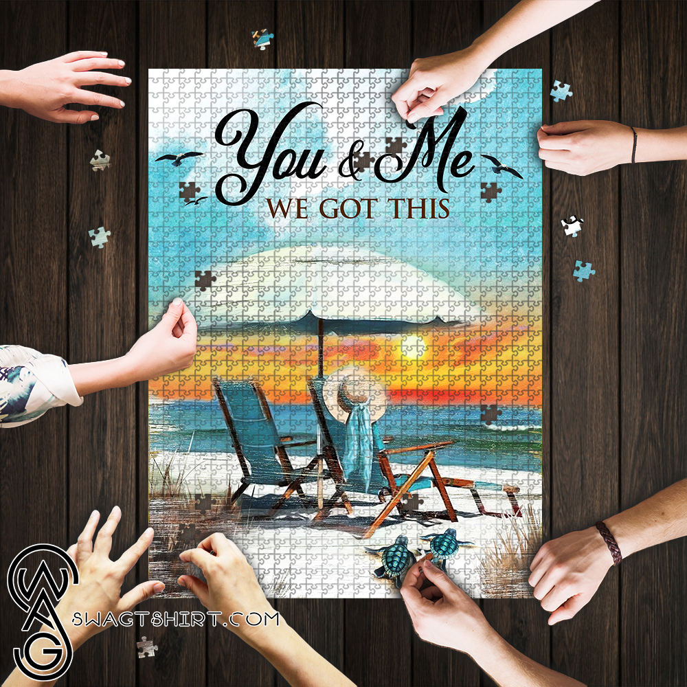 You and me we got this beach jigsaw puzzle