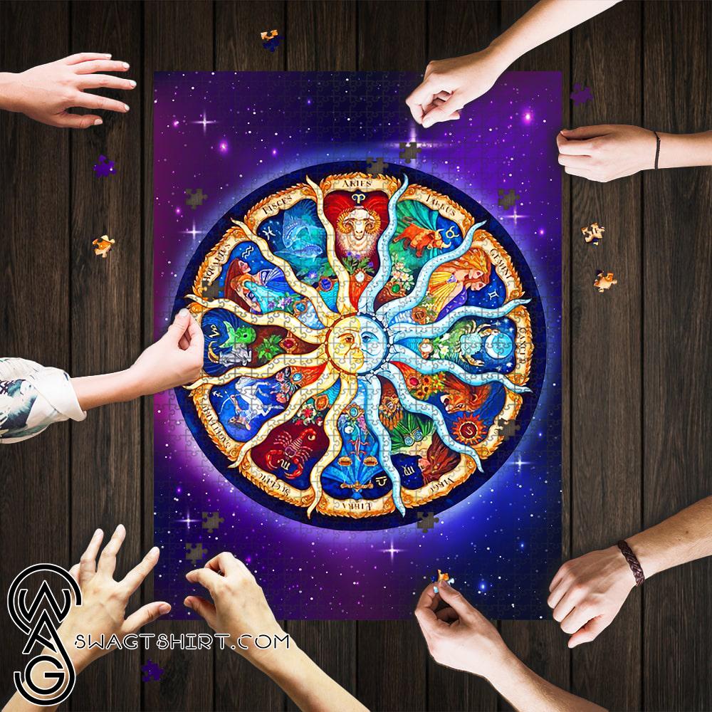 Zodiac horoscope jigsaw puzzle