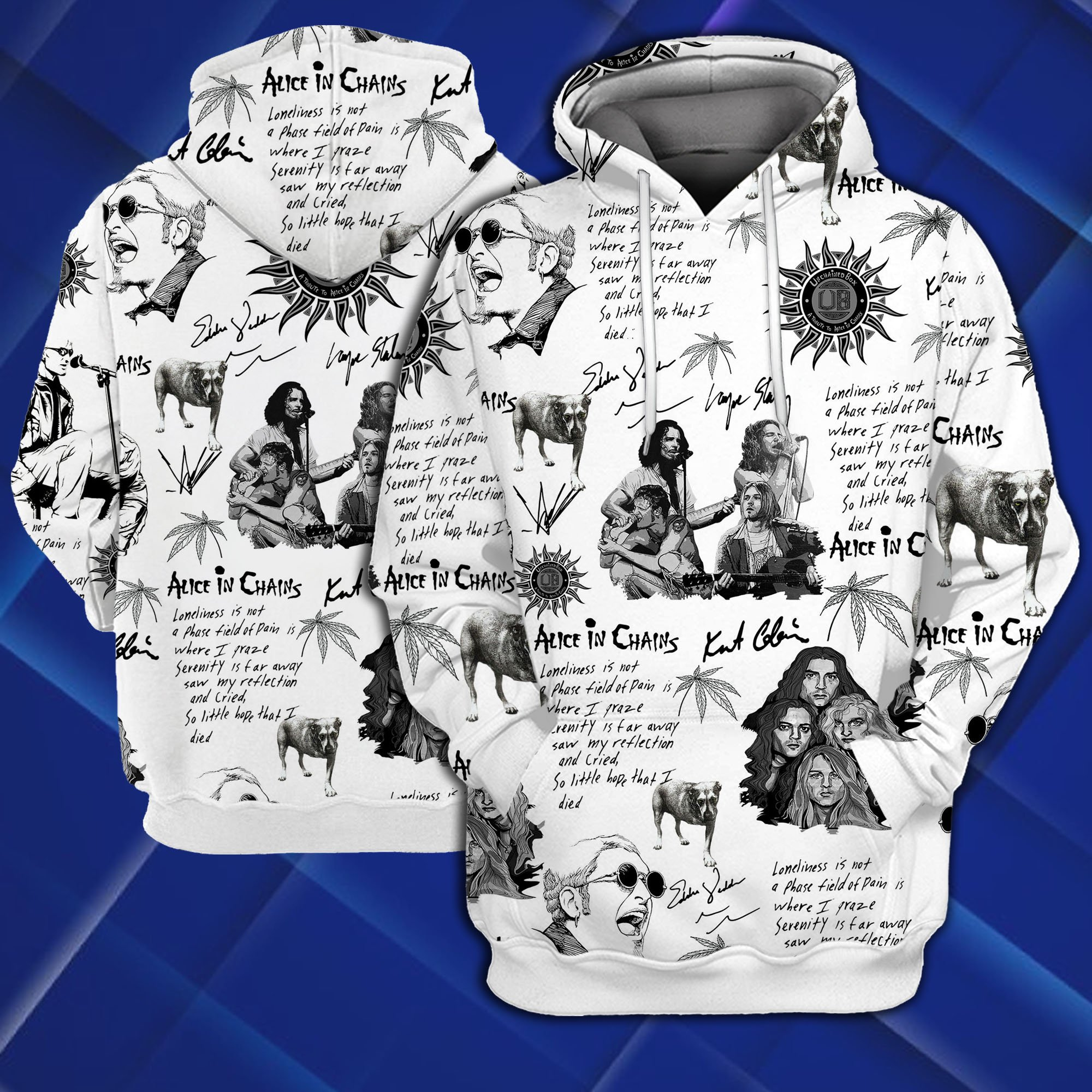 Alice in chains all over printed hawaiian hoodie