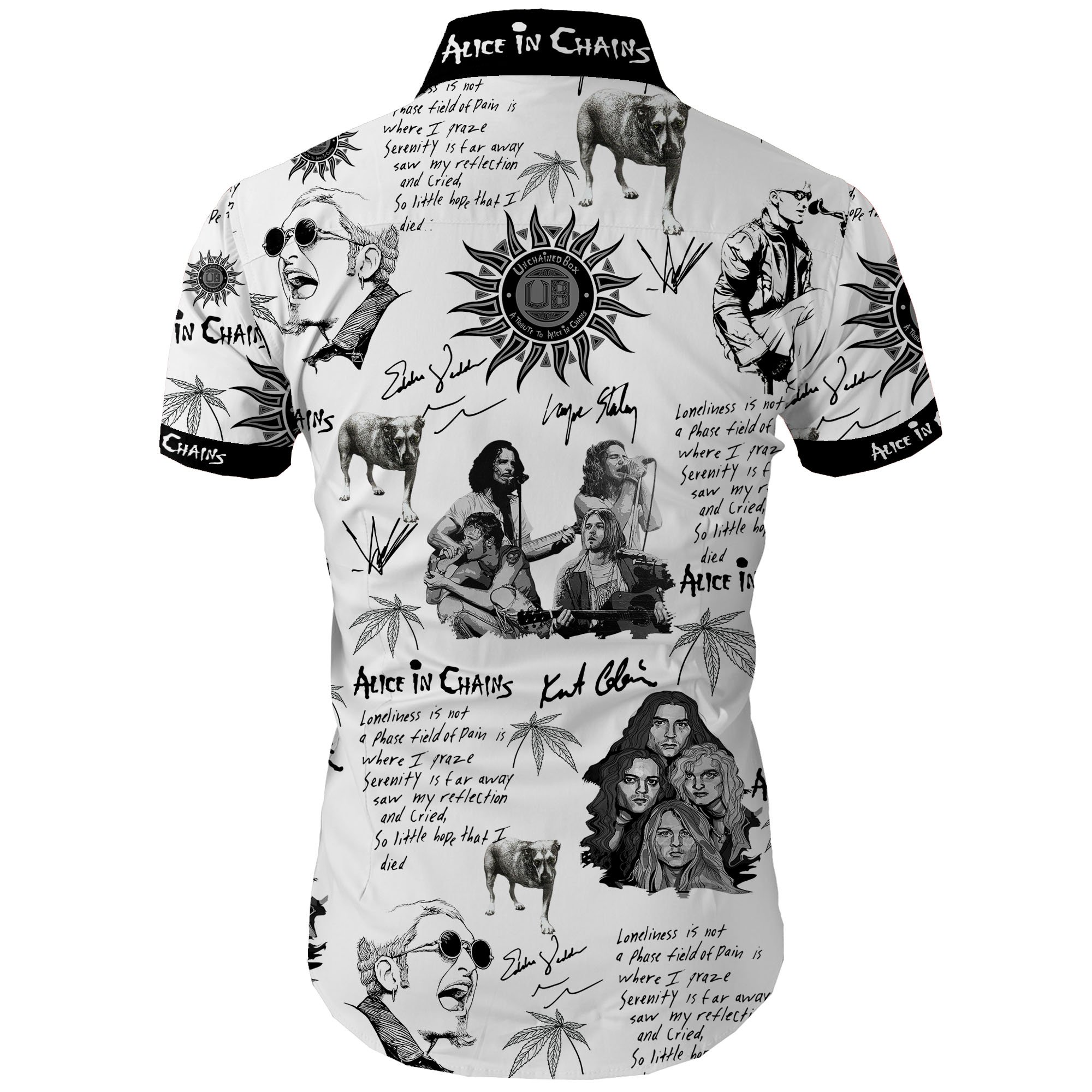 Alice in chains all over printed hawaiian shirt 1