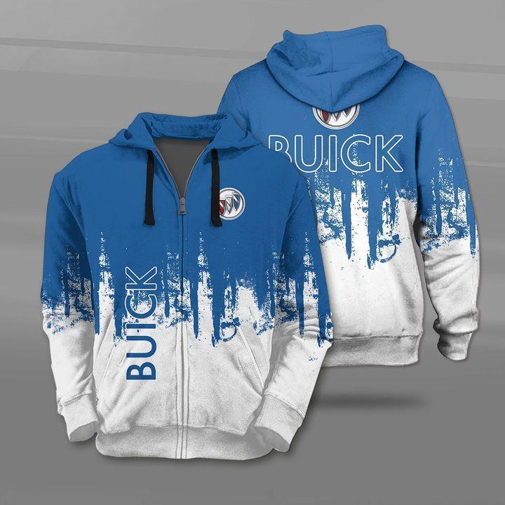 Buick car logo full printing zip hoodie