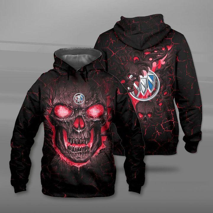 Buick lava skull full printing hoodie