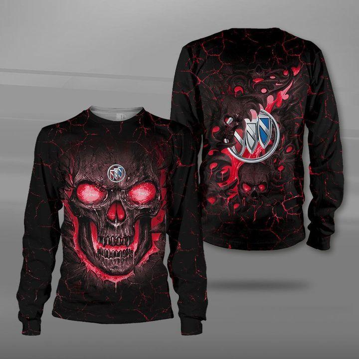 Buick lava skull full printing sweatshirt