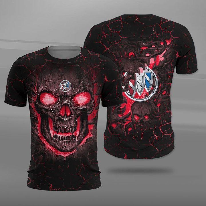 Buick lava skull full printing tshirt