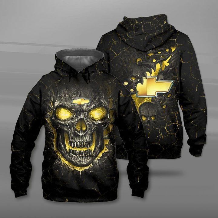 Chevrolet lava skull full printing hoodie