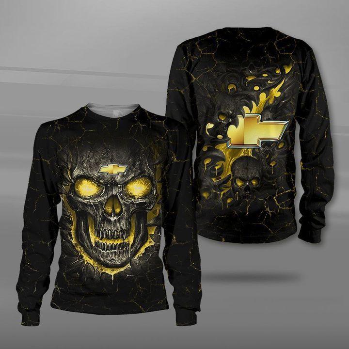 Chevrolet lava skull full printing sweatshirt