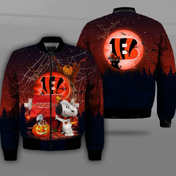 Cincinnati bengals who day snoopy full printing bomber