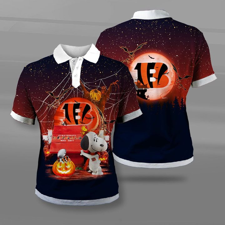 Cincinnati bengals who day snoopy full printing polo